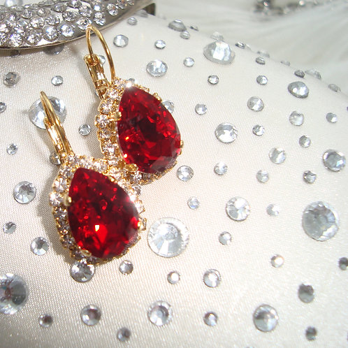 Scarlet Freesia Earring