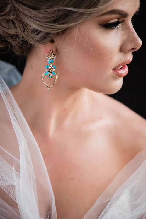 The Turquoise Snowbell Earrings