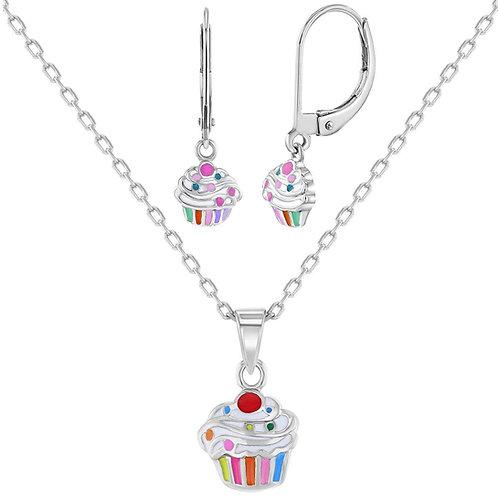 Cupcake Jewelry Set