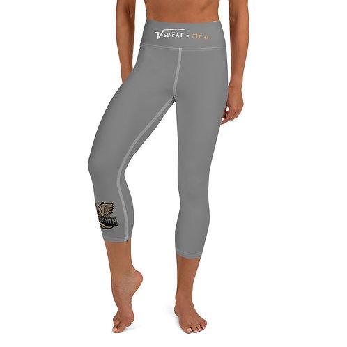 Phoenix Gray Yoga Capri Leggings