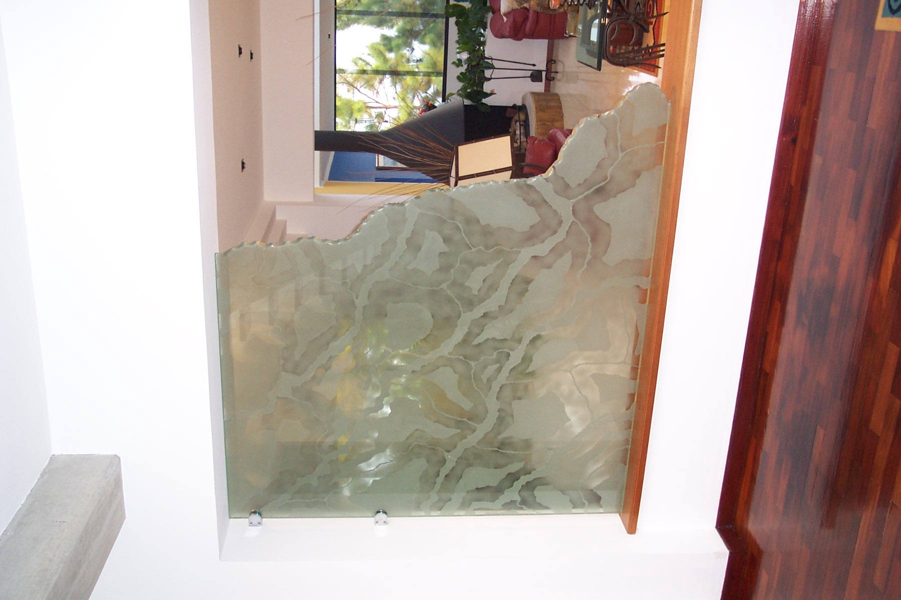 Living Room Glass Divider