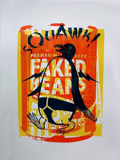 John Harrison artist Faked Beans screen print artwork