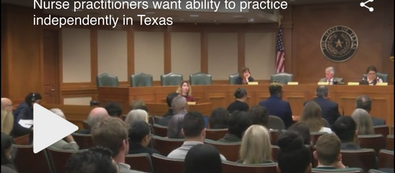 Texas Legislature Hears Bill to Remove Barriers to Nurse Practitioners