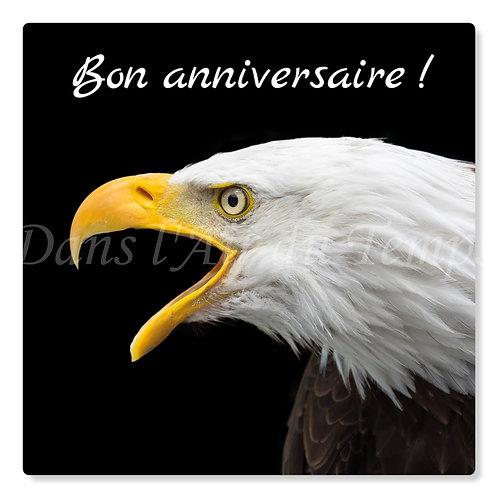 Carte photo Joyeux Anniversaire 9 Oiseaux Aigle