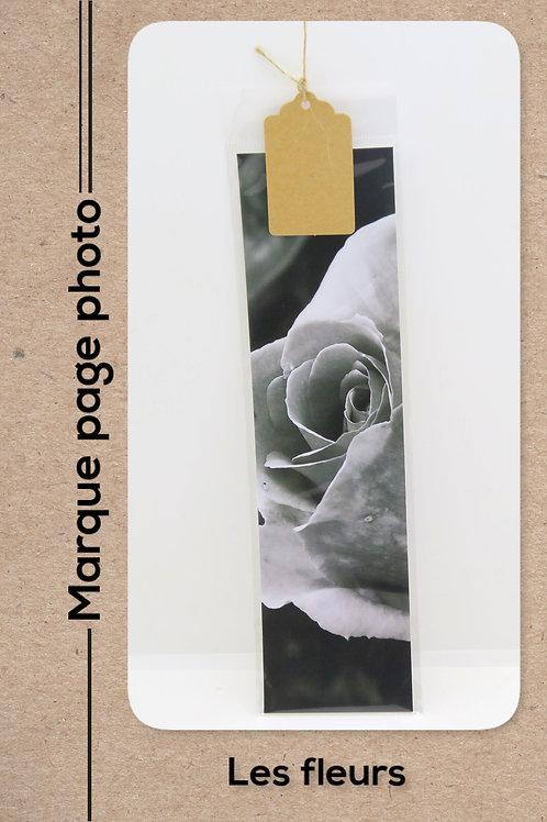 Fleurs modèle 22 Rose en noir et blanc