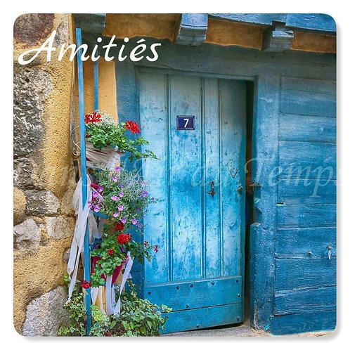 Carte photo Amitiés 23 la porte bleue