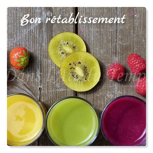 Carte photo bon rétablissement Le plein de vitamines