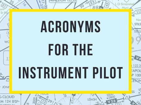 10 Important Acronyms for the Instrument Pilot