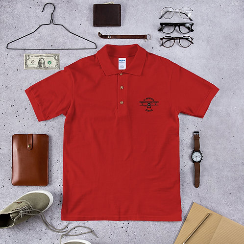 Student Pilot Embroidered Polo Shirt (Logo in Black)