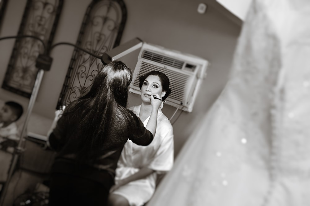 Behind the scenes bridal makeup
