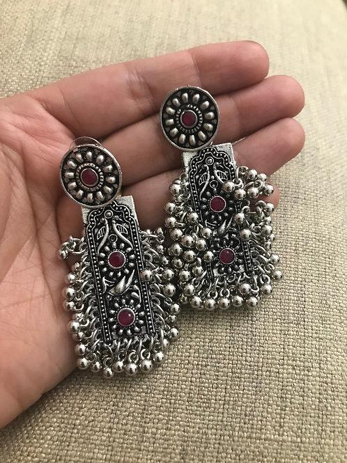Oxidized earring