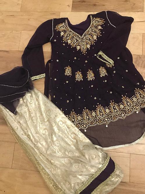 Chiffon Kameez and skirt
