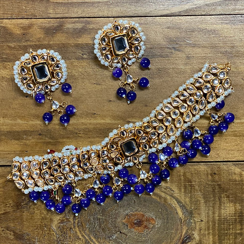 Kundan Choker and Earrings