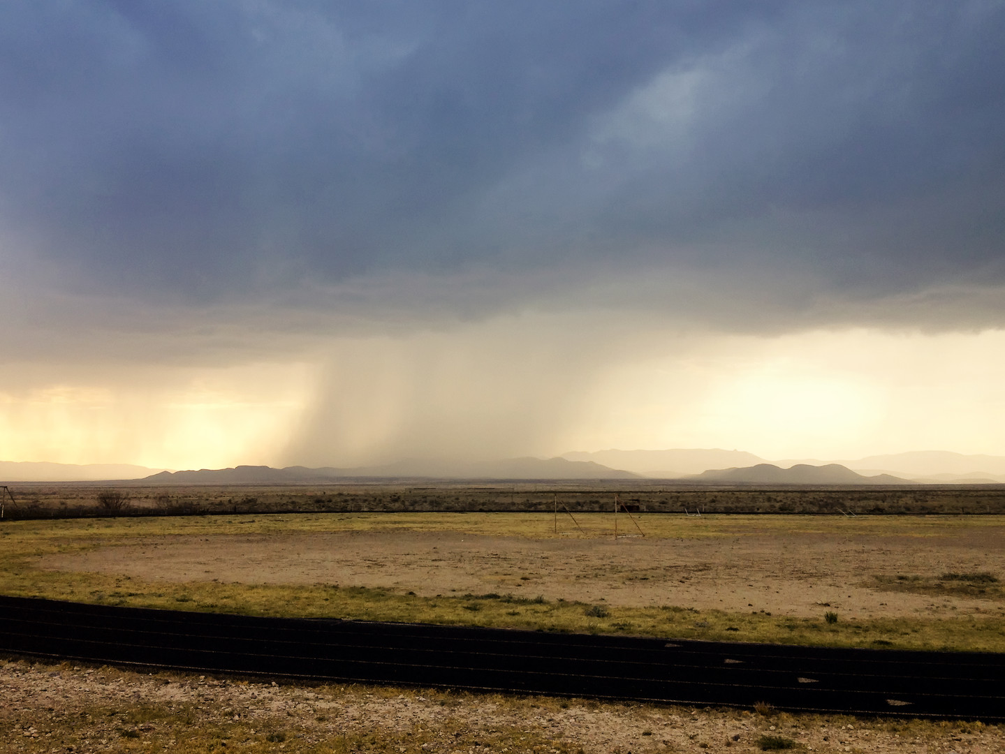 Rain in the Desert - Marathon TX April 2