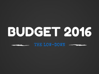 The 2016 Budget low-down