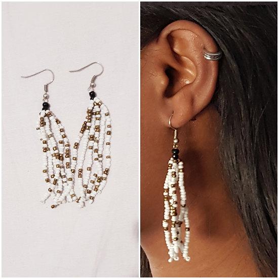boucle d'oreilles  en perles