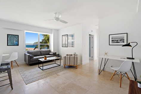 The Ambassador, Palm Beach - Living Room with Ocean View