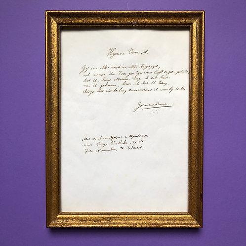 Met de kroontjespen uitgeschreven voor Serge-Henri Valcke