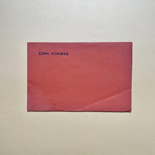 Allereerste catalogus van de schilder Dirk Koning
