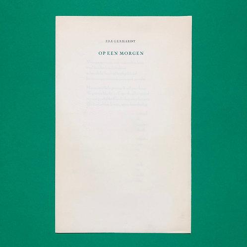 Het laatste gedicht van Ida Gerhardt