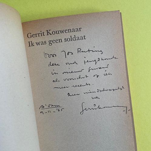 Opdracht van Gerrit Kouwenaar aan Jos Ruting