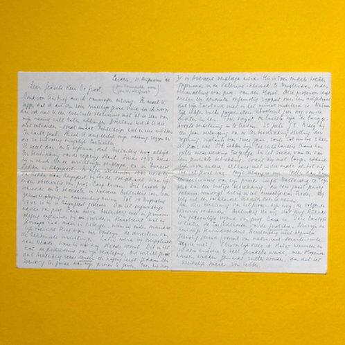 Uitgebreide brief over Gerrit Achterberg