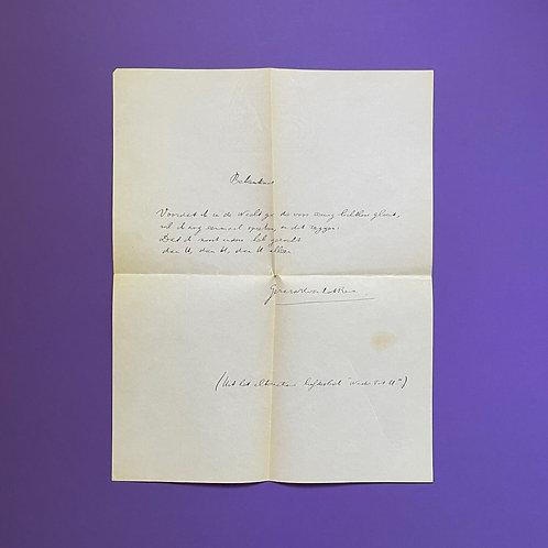 Origineel handschrift van Gerard Reve