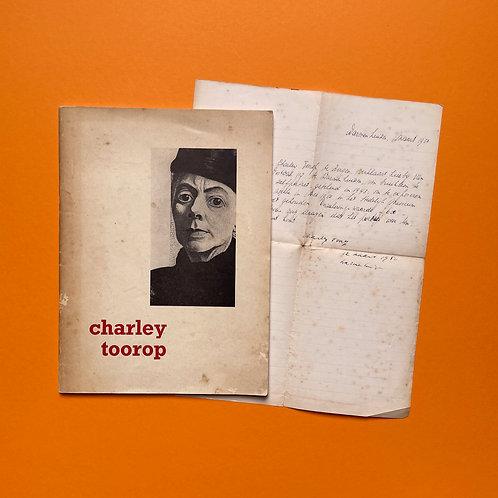 Catalogus met gesigneerde verklaring van Charley Toorop