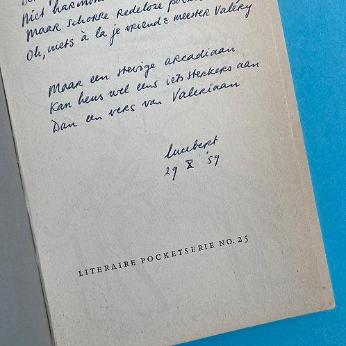 Exemplaar met handgeschreven gedicht