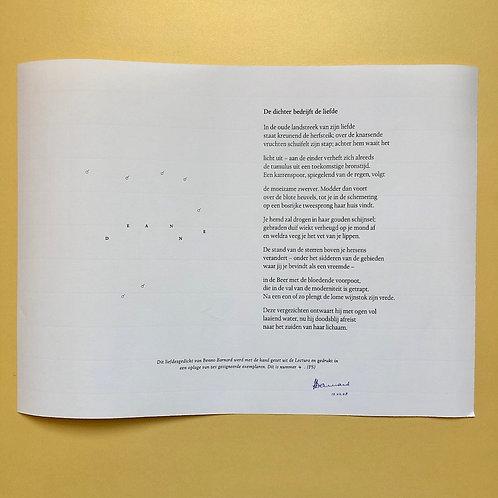 Benno Barnard, De dichter bedrijft de liefde