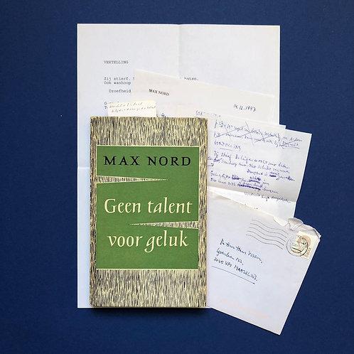 Met originele brief en handgeschreven gedichten