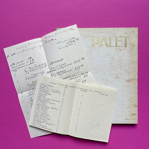 Palet van Paul Citroen met unieke intekenlijsten