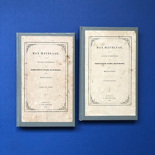 Max Havelaar in eerste druk met originele omslagen