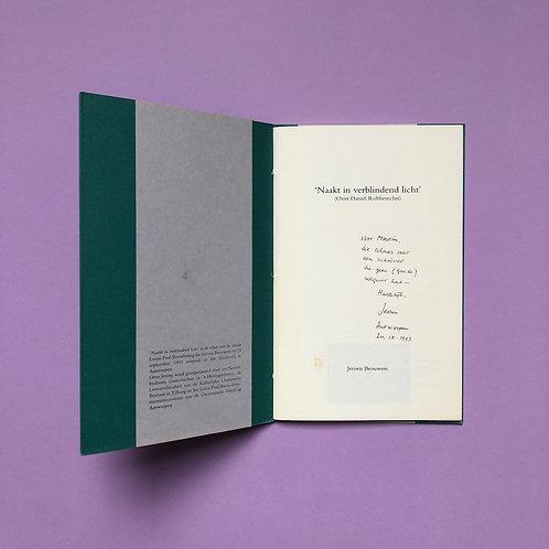 Gesigneerd voor Martin Ros met correcties van Jeroen Brouwers