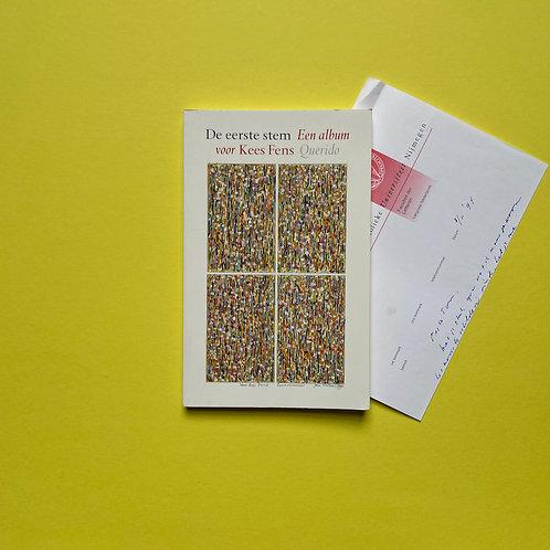 Vriendenboek met handgeschreven brief van Kees Fens