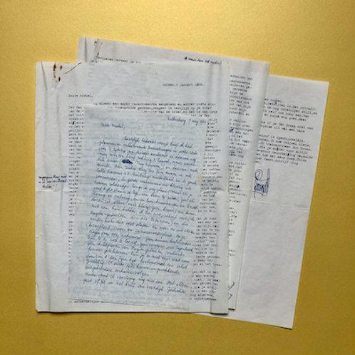 Originele brieven van Pé Hawinkels