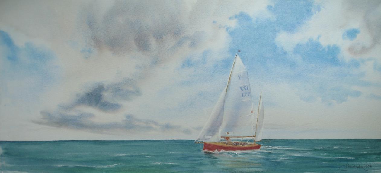 """""""Yawl at Sea"""""""