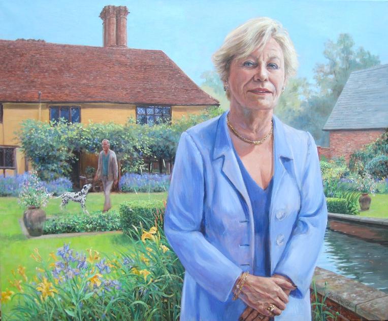 """""""Janet Martin in Her Garden"""""""