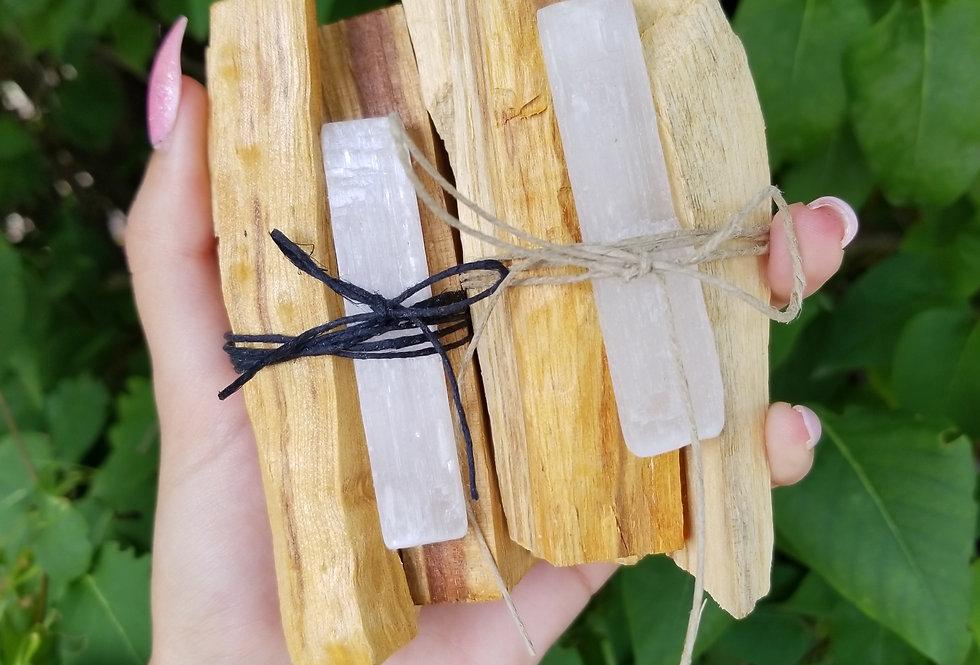Palo Santo/Selenite Bundle (Bursera graveolens)