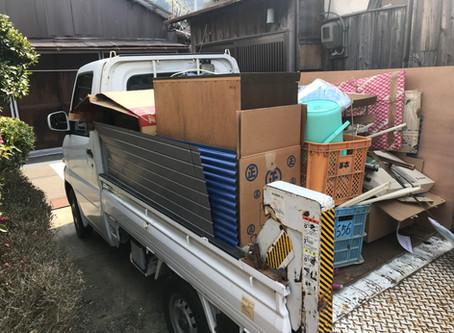 海南市にて不用品回収、空き家片づけ