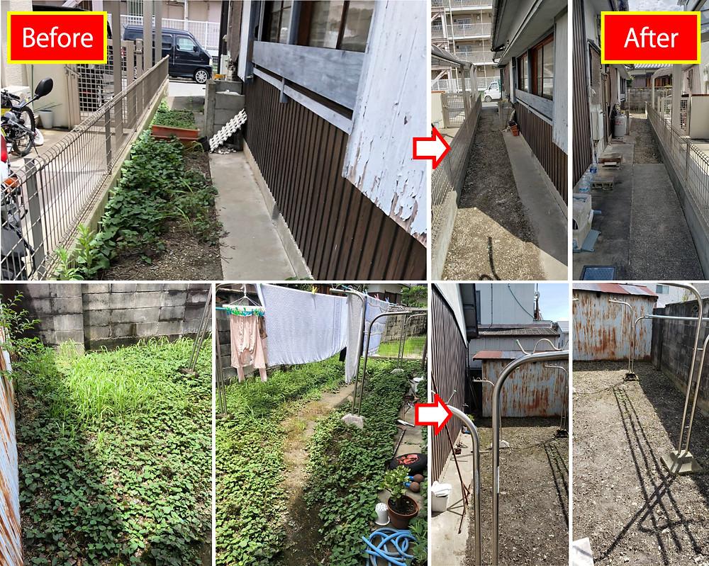 和歌山市、不用品処分、草刈り、剪定