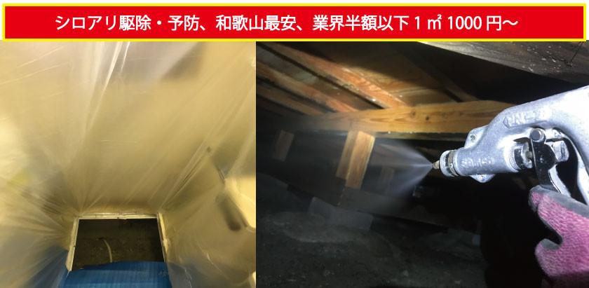 和歌山市にてシロアリ駆除の写真