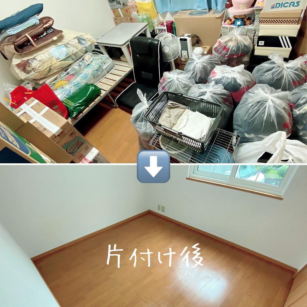 荷物の多い部屋が片付く写真
