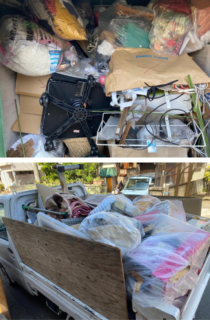 和歌山市 軽トラ積み放題 不用品回収