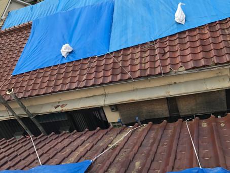 台風被害による雨漏れ対策