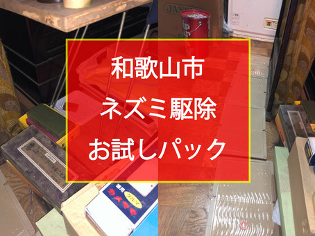 和歌山市 ネズミ駆除 お試しパック