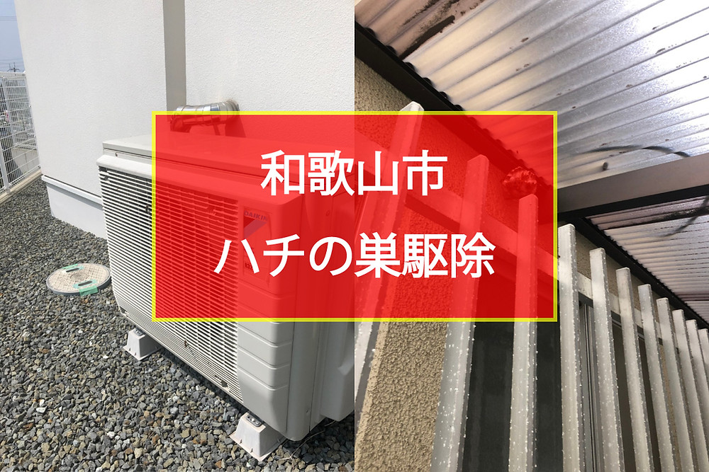 和歌山市 ハチの巣駆除