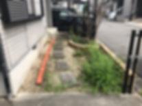 和歌山の草刈り、庭砂利敷き