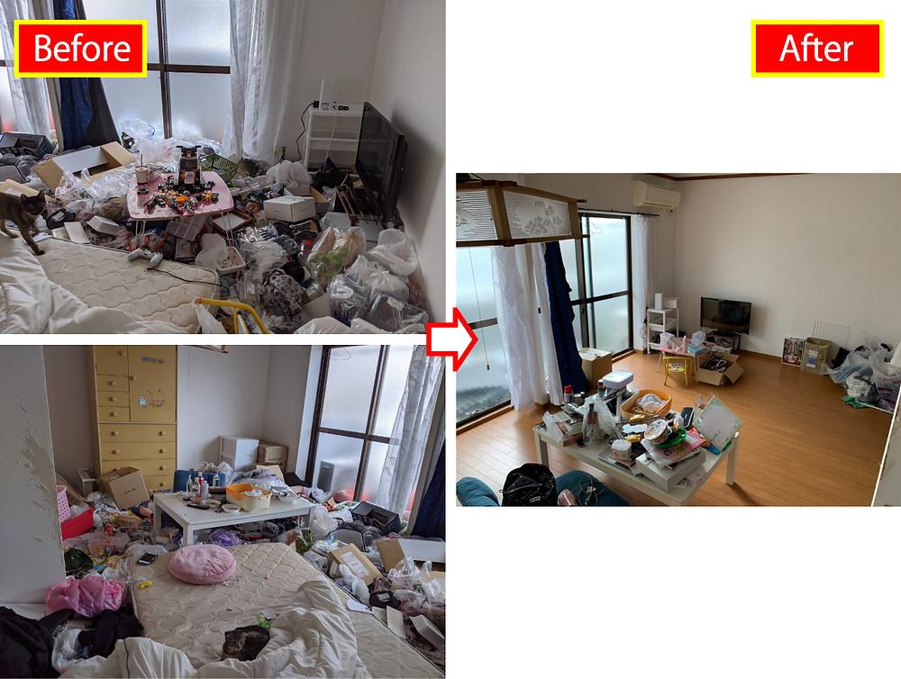 海南市、ごみ屋敷処分、ごみ屋敷片付け、清掃