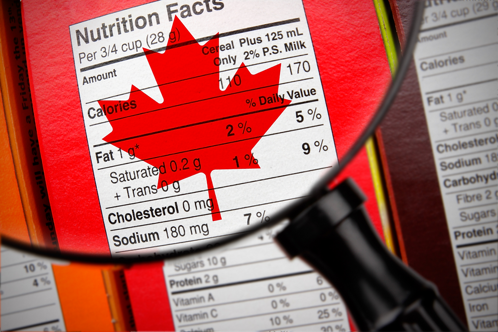 nutritional facts label labels canada requirements CFIA food inspection agency safety defense SFCR canadians